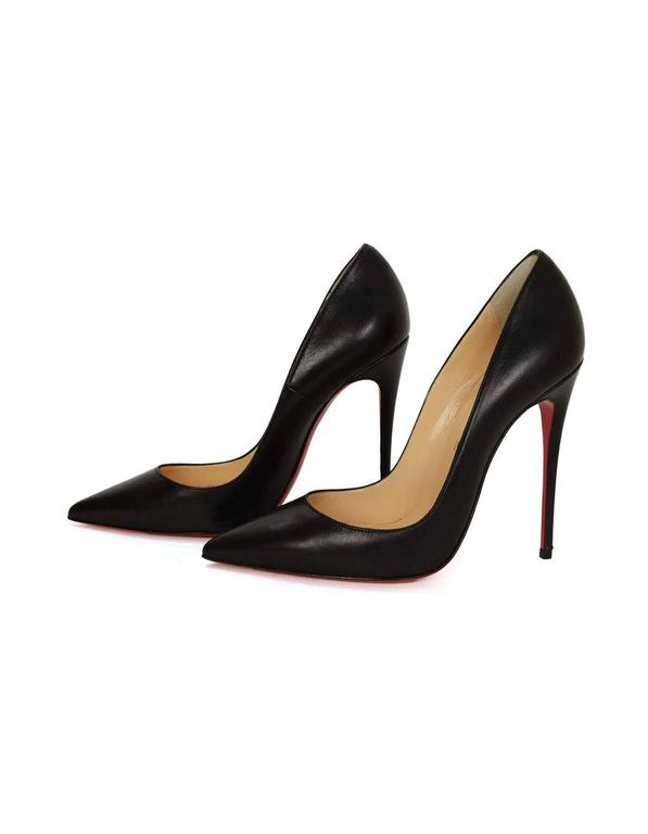 brand new 582a5 75e0e Christian Louboutin Black Leather 'So Kate 120' Pumps sz 37
