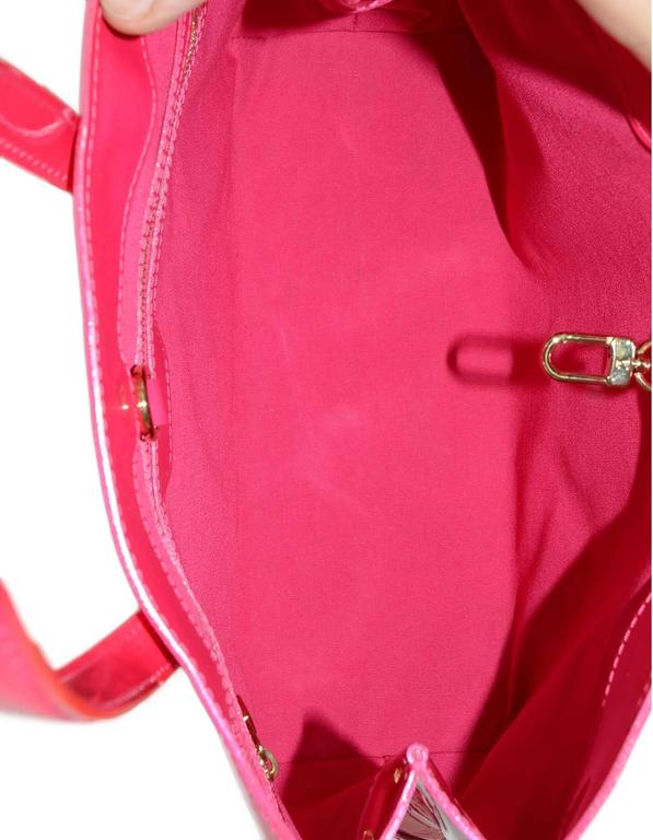 louis vuitton hot pink monogram vernis wilshire pm tote ghw for sale at 1stdibs