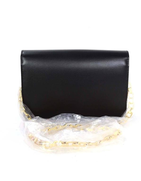 3ca14d310404 Gray Louis Vuitton Black Leather Chain Louise GM Clutch Bag GHW rt.  2