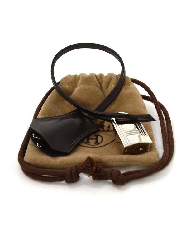 Hermes Brown Box Clochette & Palladium Padlock  3