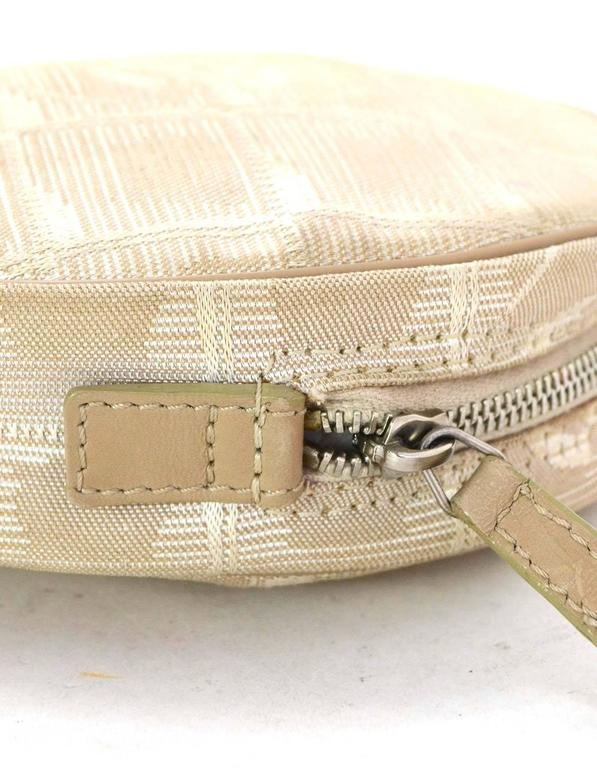 Chanel Ivory Canvas Travel Ligne Circle Pochette SHW 4