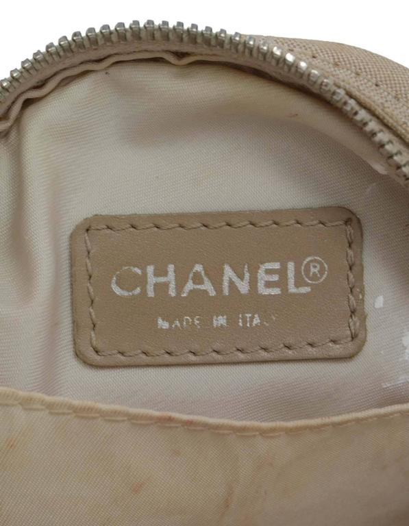 Chanel Ivory Canvas Travel Ligne Circle Pochette SHW 6