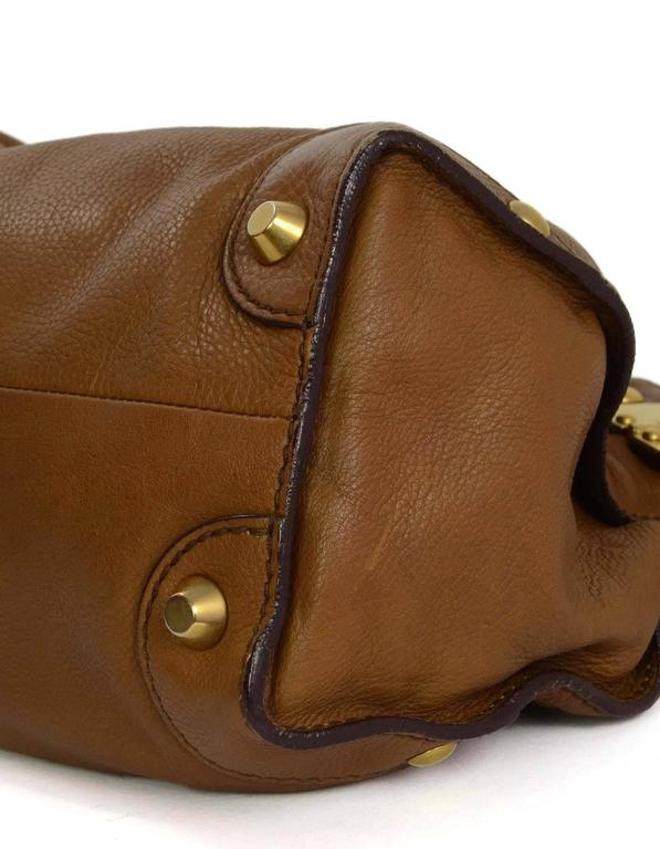 Miu Miu Tan Leather Belt Buckle Tote Bag GHW In Excellent Condition For Sale In New York, NY