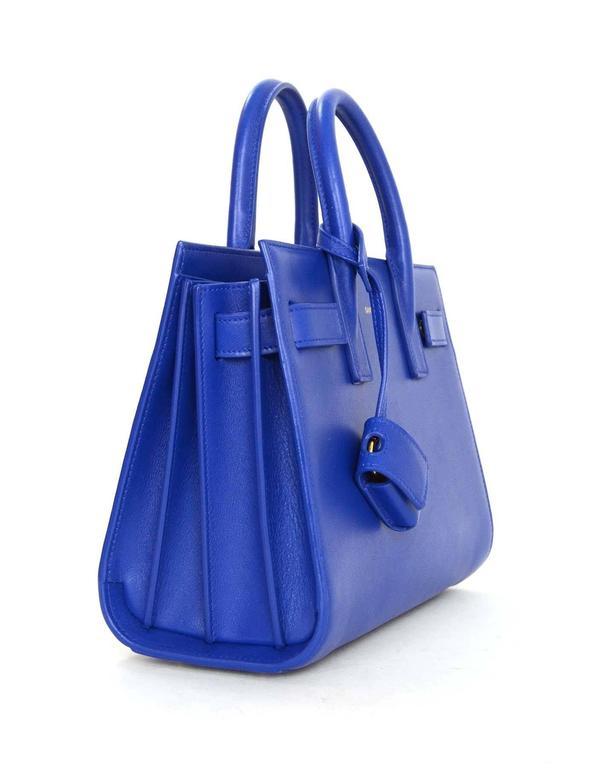Saint Laurent Cobalt Blue Nano Sac De Jour Crossbody Bag