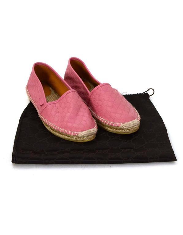 Gucci Pink Microguccissima Leather Espadrilles sz 37 at 1stdibs