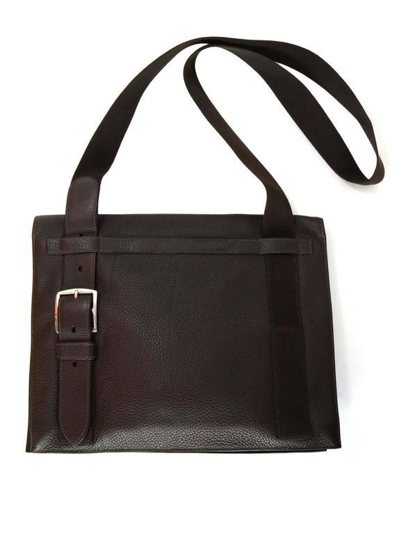 Hermes Rare Brown Clemence Leather 38cm Yohji Yamamoto ...