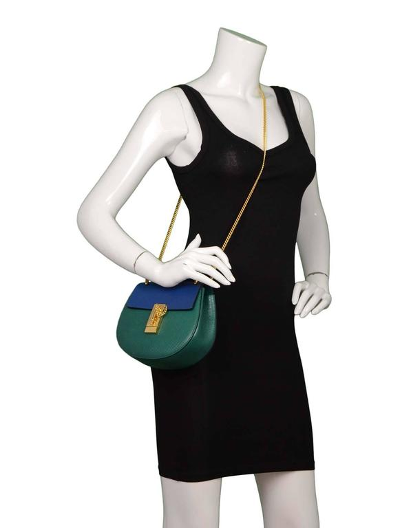Chloe Blue and Green Bicolor Drew Small Crossbody Bag GHW rt. $1,950 10