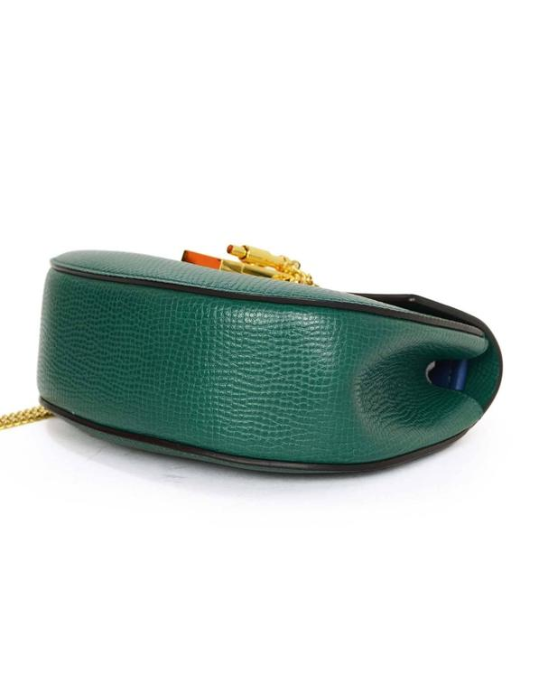 Chloe Blue and Green Bicolor Drew Small Crossbody Bag GHW rt. $1,950 4