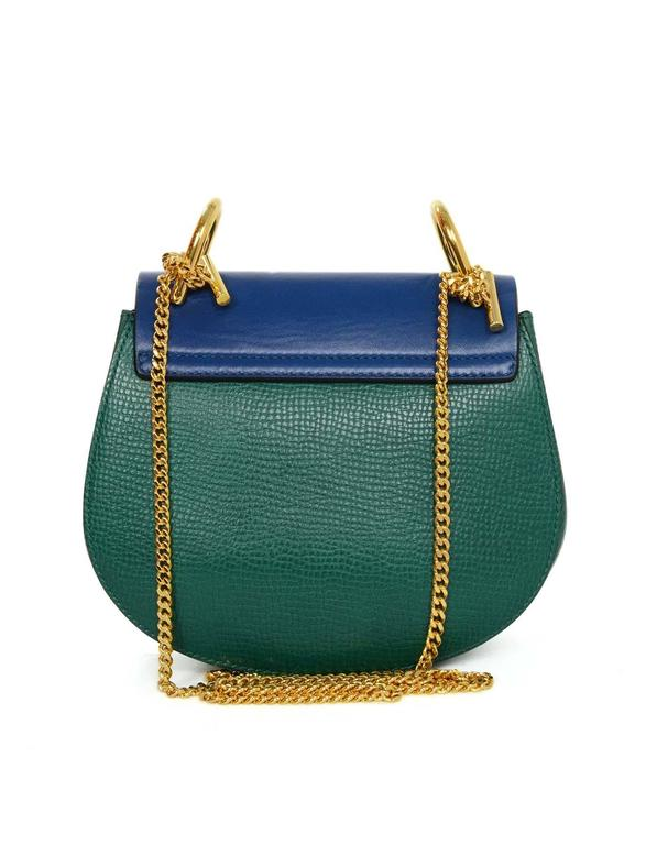 Chloe Blue and Green Bicolor Drew Small Crossbody Bag GHW rt. $1,950 2
