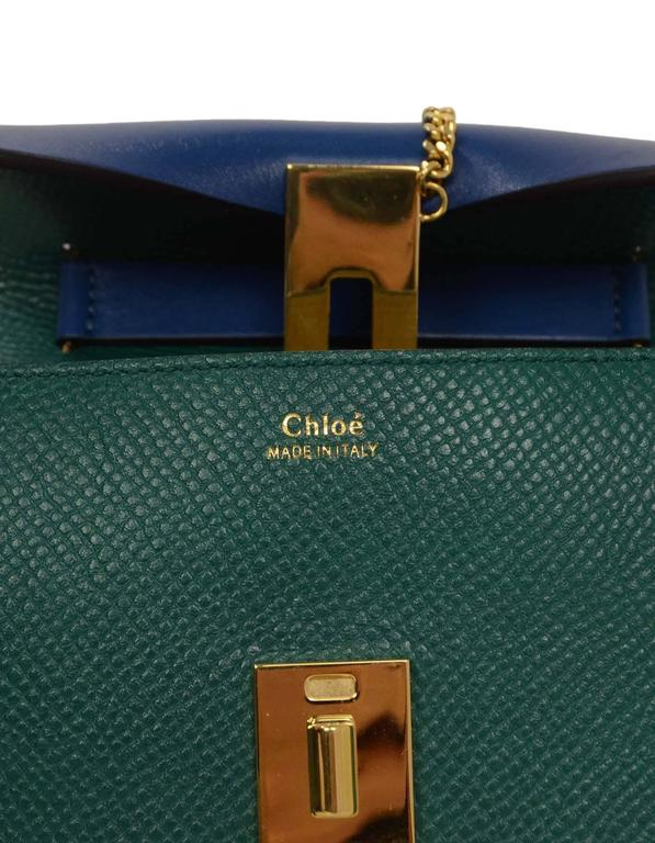 Chloe Blue and Green Bicolor Drew Small Crossbody Bag GHW rt. $1,950 6