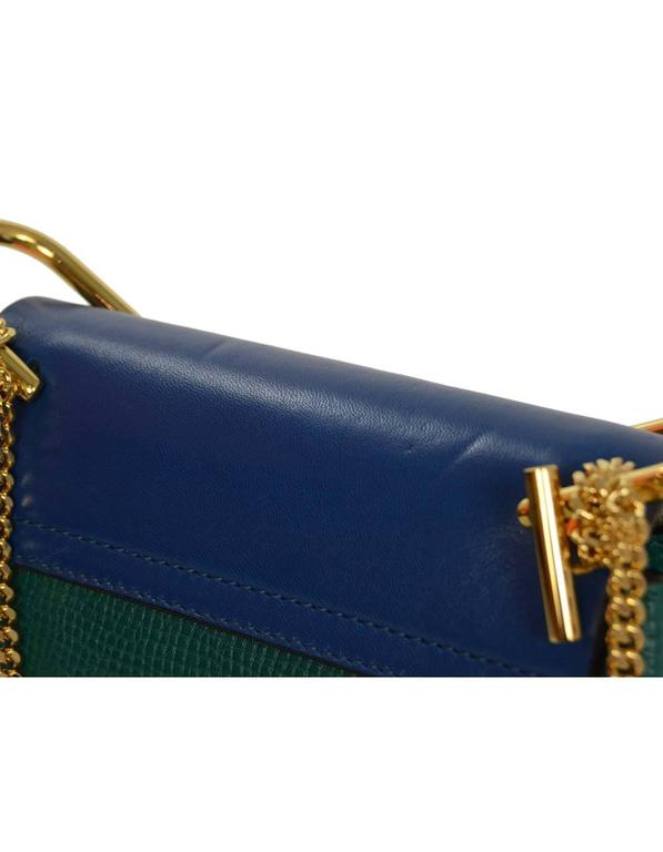 Chloe Blue and Green Bicolor Drew Small Crossbody Bag GHW rt. $1,950 8