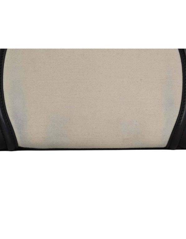 Celine Ivory & Black Canvas/Leather Mini Luggage Tote Bag GHW 6