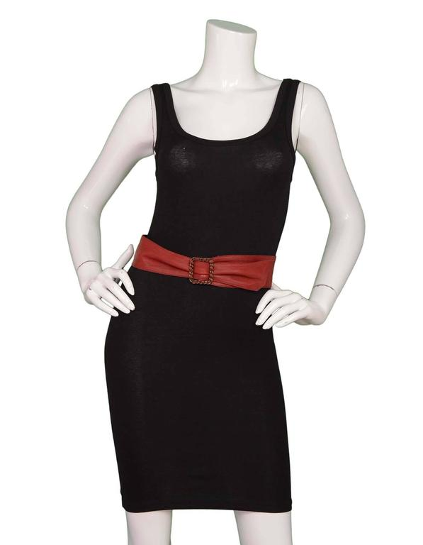 Chanel Red Leather Sash Belt BHW For Sale 1