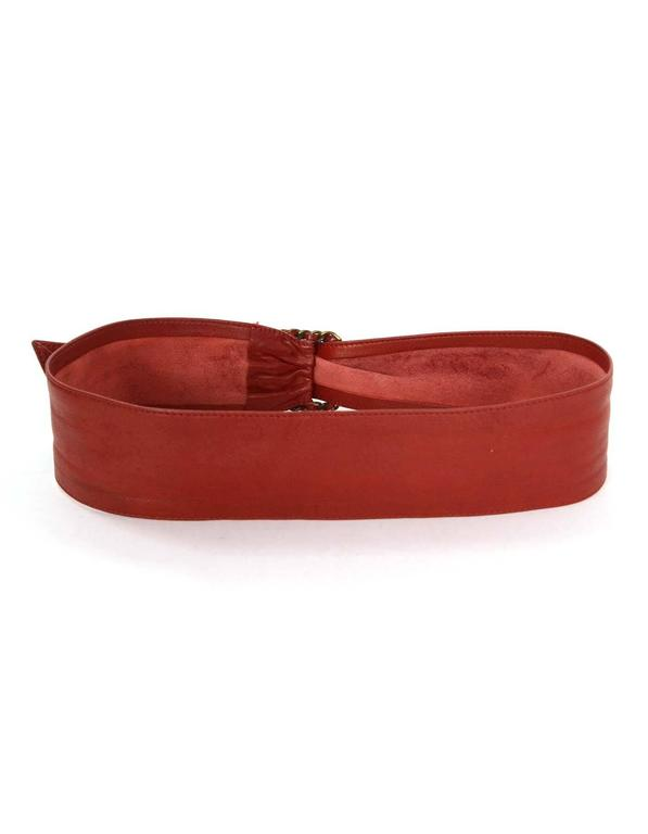 Chanel Red Leather Sash Belt BHW In Excellent Condition For Sale In New York, NY