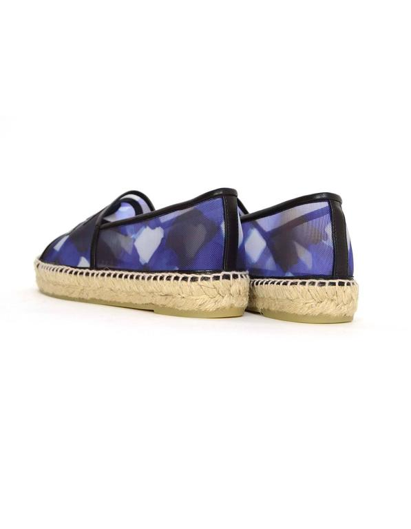 Chanel NEW 2016 Blue Mesh & Black Leather CC Espadrilles sz 39 1