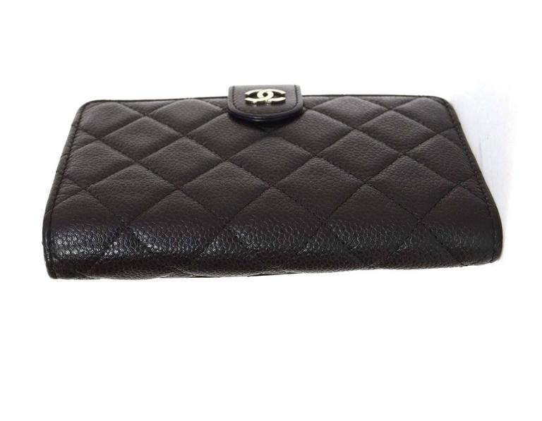 c6f415444cc8 Chanel Black Caviar L-Zip Pocket Zip Wallet Features CC logo push button  closure Made
