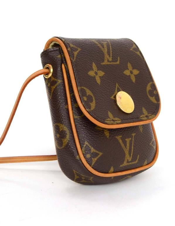 Louis Vuitton Monogram Cancun Mini Crossbody Bag Features Flap Top With Snap Closure Made In
