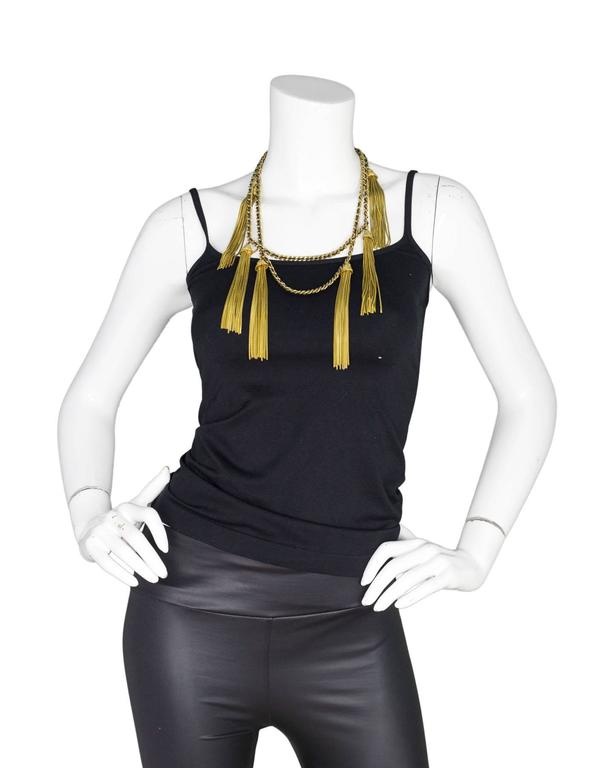 Chanel RARE Vintage '94 Leather & Chain Tassel Necklace 7