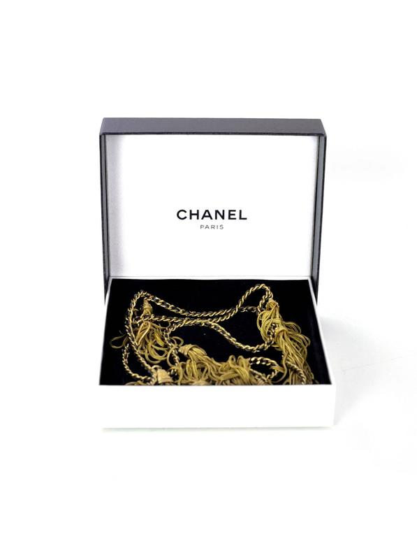 Chanel RARE Vintage '94 Leather & Chain Tassel Necklace 6