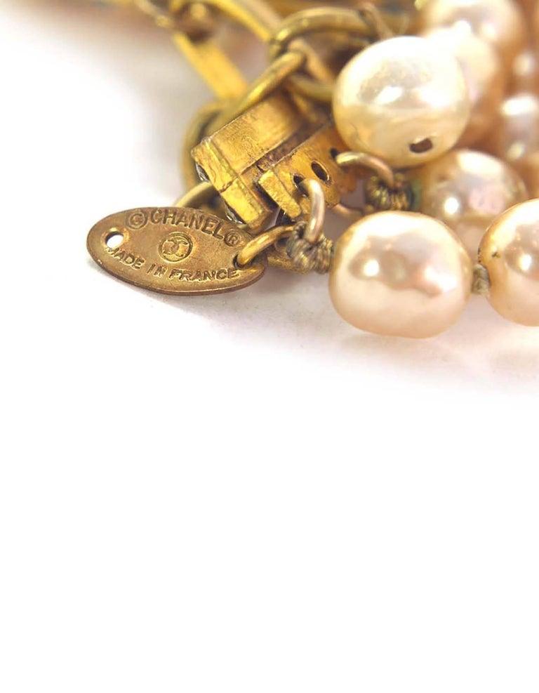 Chanel Vintage '90s Multi-Strand Pearl & Crystal Rondelle Necklace For Sale 1