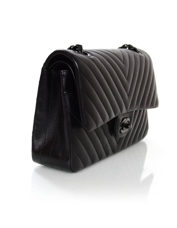 fa58a5773bd056 ... Double Flap Classic. This bag is. 100% Authentic Chanel Chevron SO Black  10