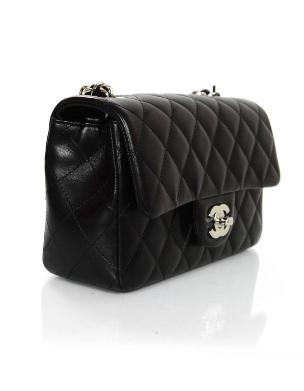 69a57760feb9 100% Authentic Chanel Black Lambskin Mini Flap Bag Made in: Italy Year of  Production