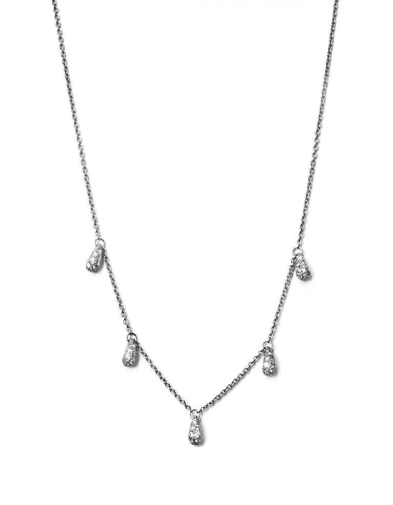 Tiffany And Co Elsa Peretti Five Teardrop Diamond And