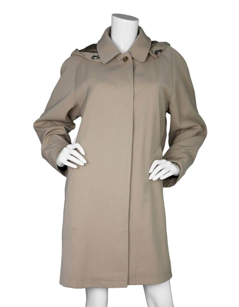 Burberry London Tan Trench Coat w/ Detachable Hood sz XL 2