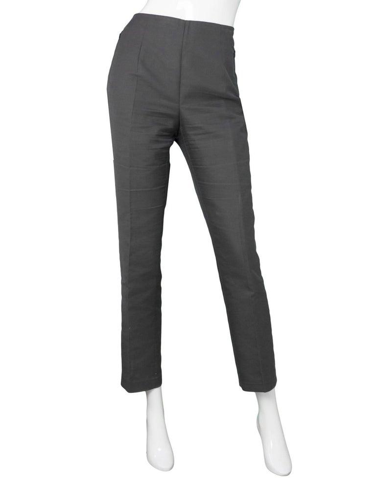 Akris Grey Cropped Pants Sz 8 2