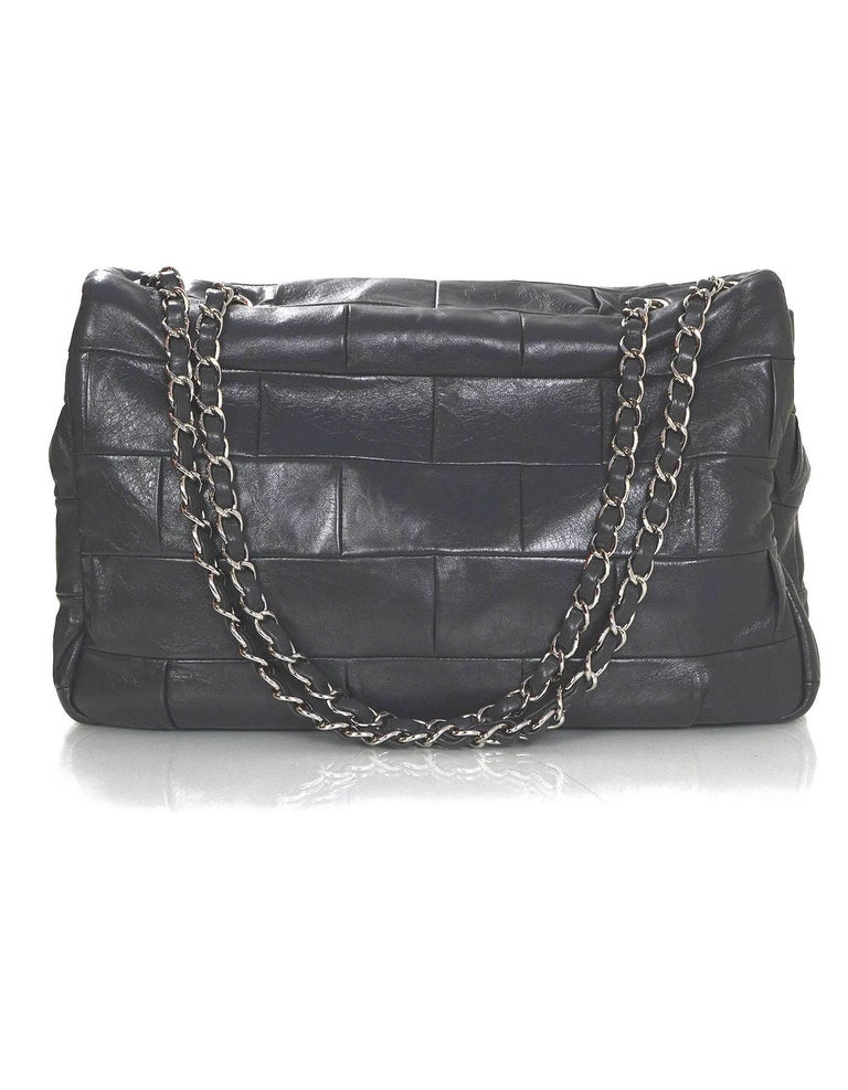 Gray Chanel Grey Leather Square Quilted Reissue 2.55 Flap Bag For Sale