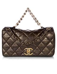 Chanel Metallic Brown Aged Calfskin Small Pondicherry Flap Bag