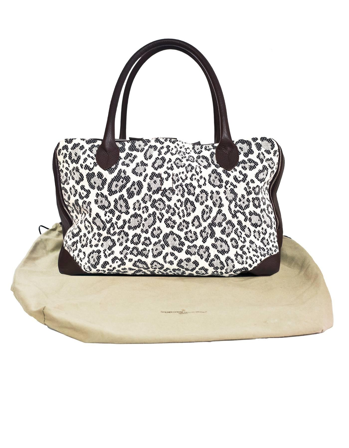 1stdibs Golden Goose Canvas & Leather Leopard Medium Equipage Bag With Db kYtV2Nh