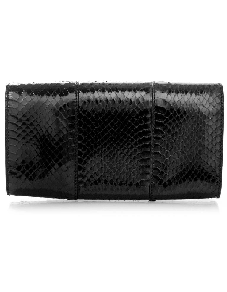 Alexander McQueen Black Python Clutch Bag In Excellent Condition For Sale In New York, NY