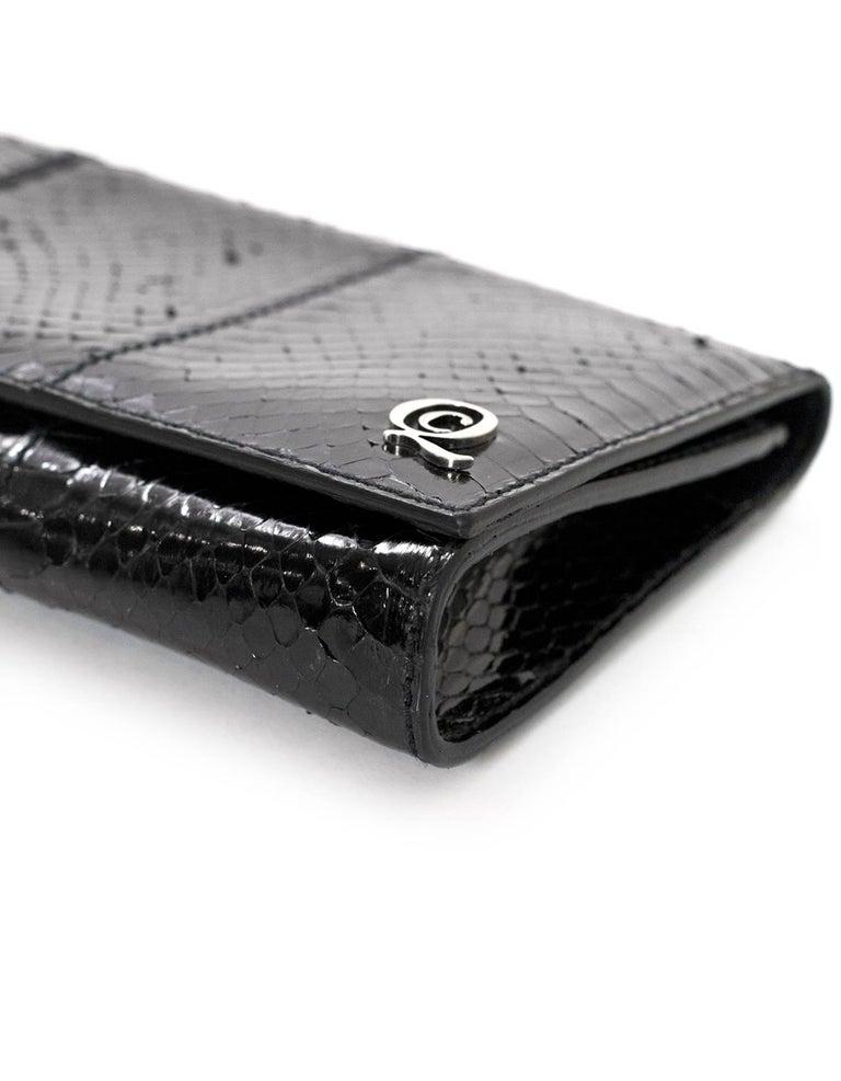 Women's Alexander McQueen Black Python Clutch Bag For Sale