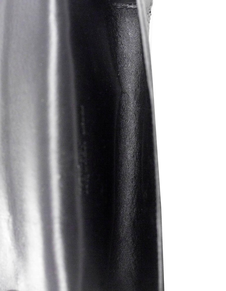 Alexander McQueen Black Python Clutch Bag For Sale 4