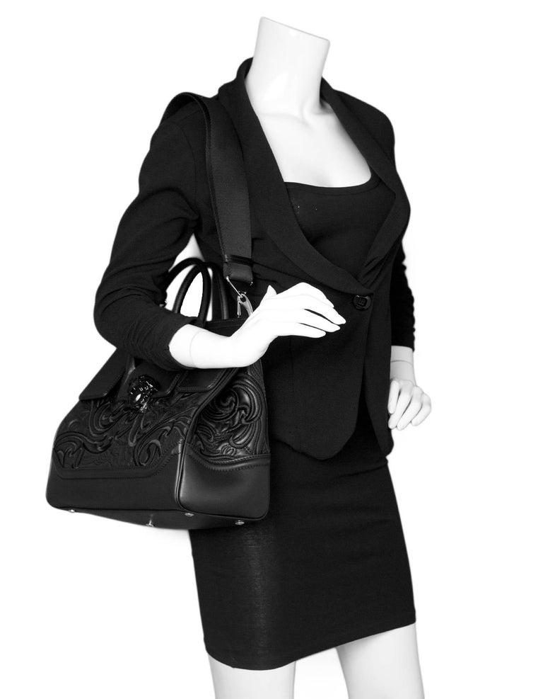 7e8f637dbd Versace Black Medium Baroque Empire Palazzo Bag - NWT In New Condition For  Sale In New
