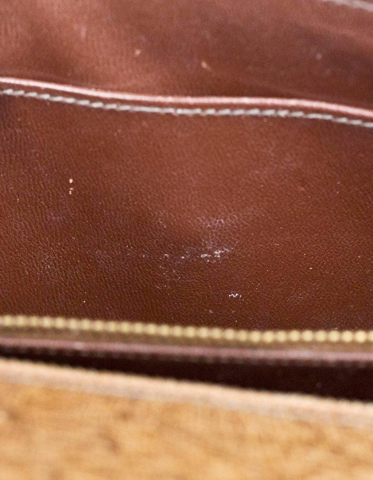 Hermes Vintage Brown Ostrich Clutch/Shoulder Bag w. Tassel Detail For Sale 4
