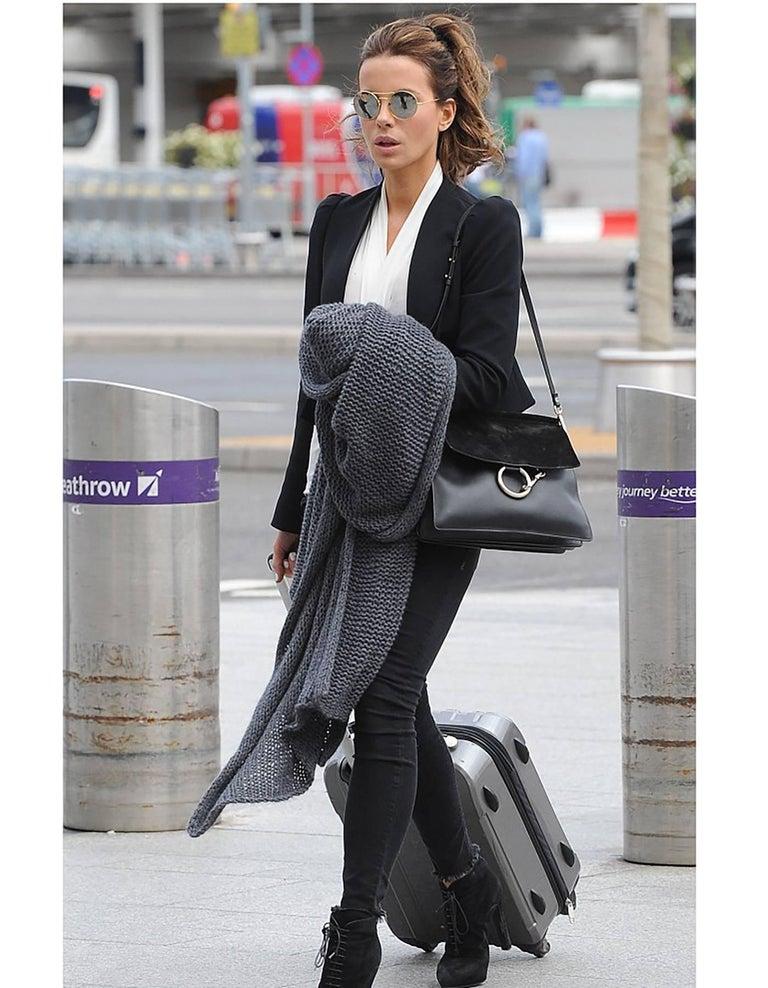 7d2dd511f1 Chloe Black Leather  amp  Suede Medium Faye Shoulder Bag Made In  Italy  Color