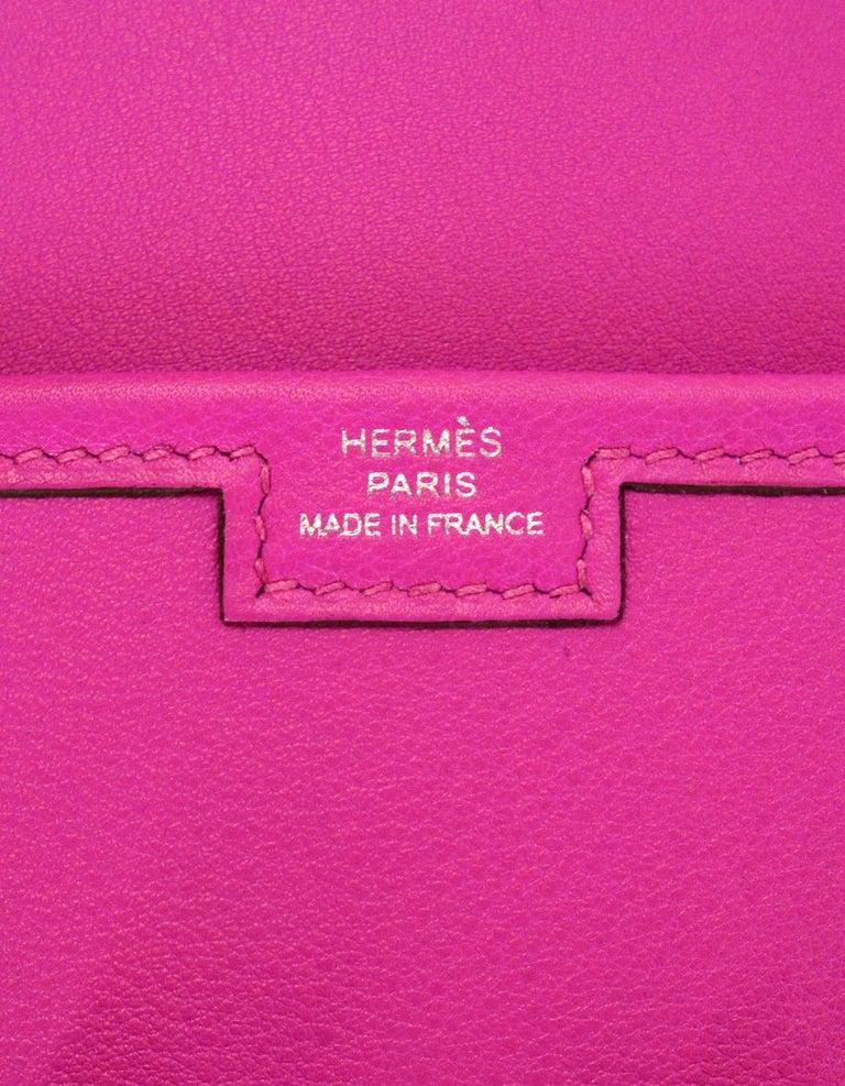 Hermes Magnolia Pink Swift Leather Jige Elan 29 H Clutch Bag, 2018  For Sale 1