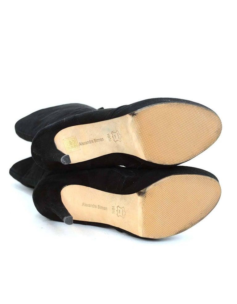 ALEXANDRE BIRMAN Black Suede Lace Up Boots sz 10.5 7