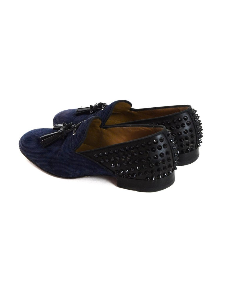 finest selection f3178 7b1d6 Christian Louboutin Men's Navy /Black Spike Loafers sz 41