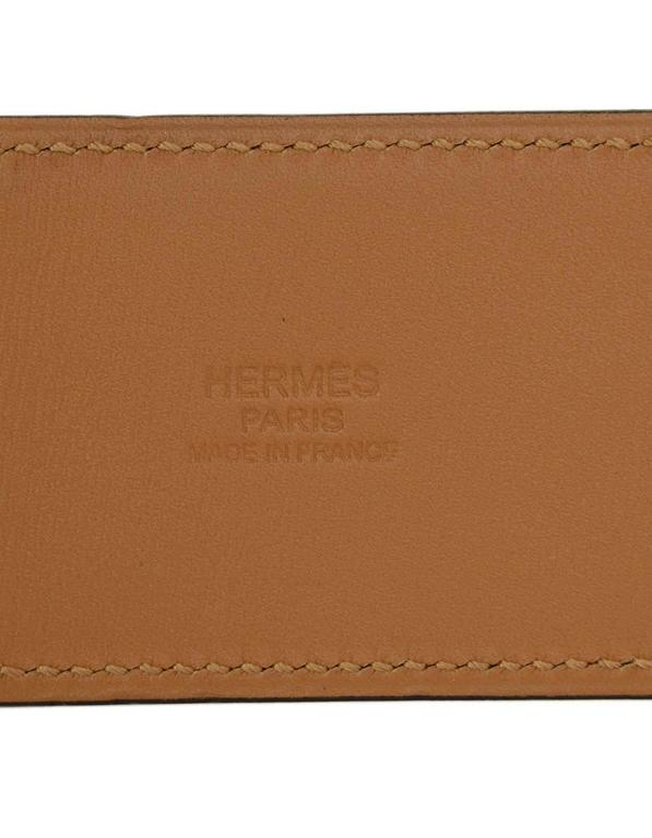 HERMES 2012 Yellow Epsom Leather Collier de Chien CDC Belt sz 75 rt $2,350 6