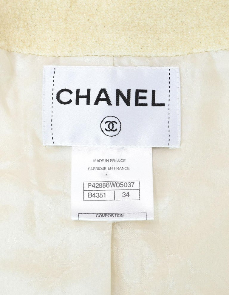 ede01009 Chanel Cream Glitter / Sequin Jacket In Good Condition For Sale In New  York, ...