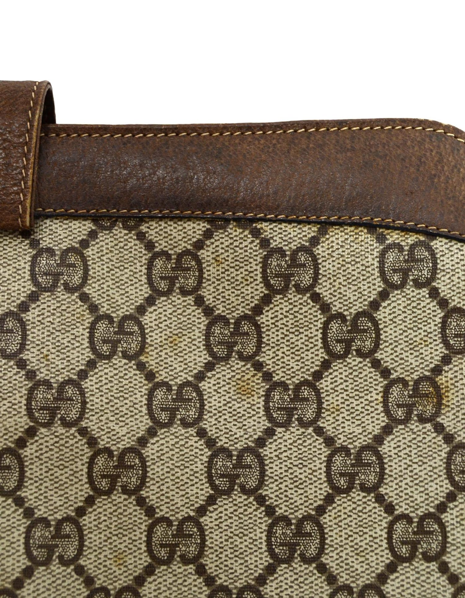 505e79245226 Gucci Vintage Monogram Tan Coated Canvas/ Brown Leather GG Supreme  Crossbody Bag For Sale at 1stdibs