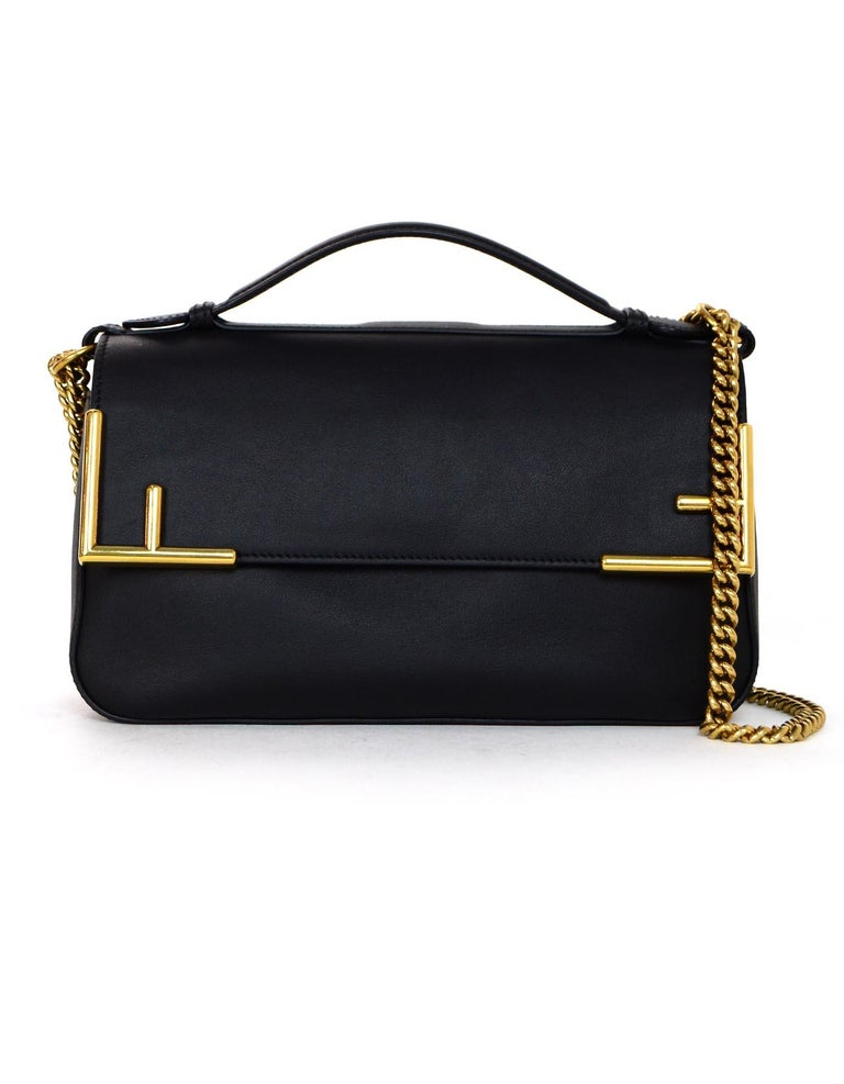 Fendi 2018 Black Brown Leather Canvas Monogram Double Flap Crossbody Bag In  Excellent Condition 19f8a435c8