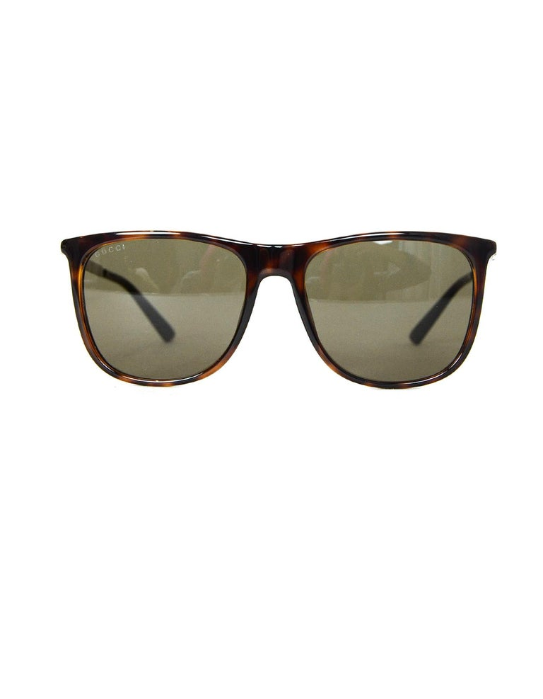 1f8abc831c1f6 Women s or Men s Gucci Brown Square-Frame Acetate Sunglasses W  Metal Red  Green