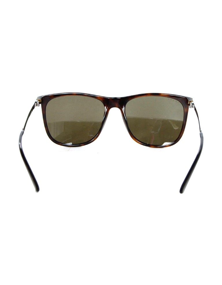 747d30477be64 Gucci Brown Square-Frame Acetate Sunglasses W  Metal Red Green Arm Web For