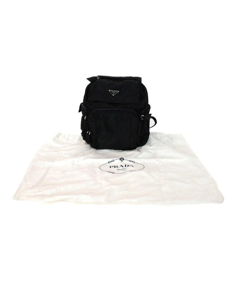 a9110cf91d Prada Black Nylon Mini Backpack Bag W  Zip Pockets For Sale at 1stdibs