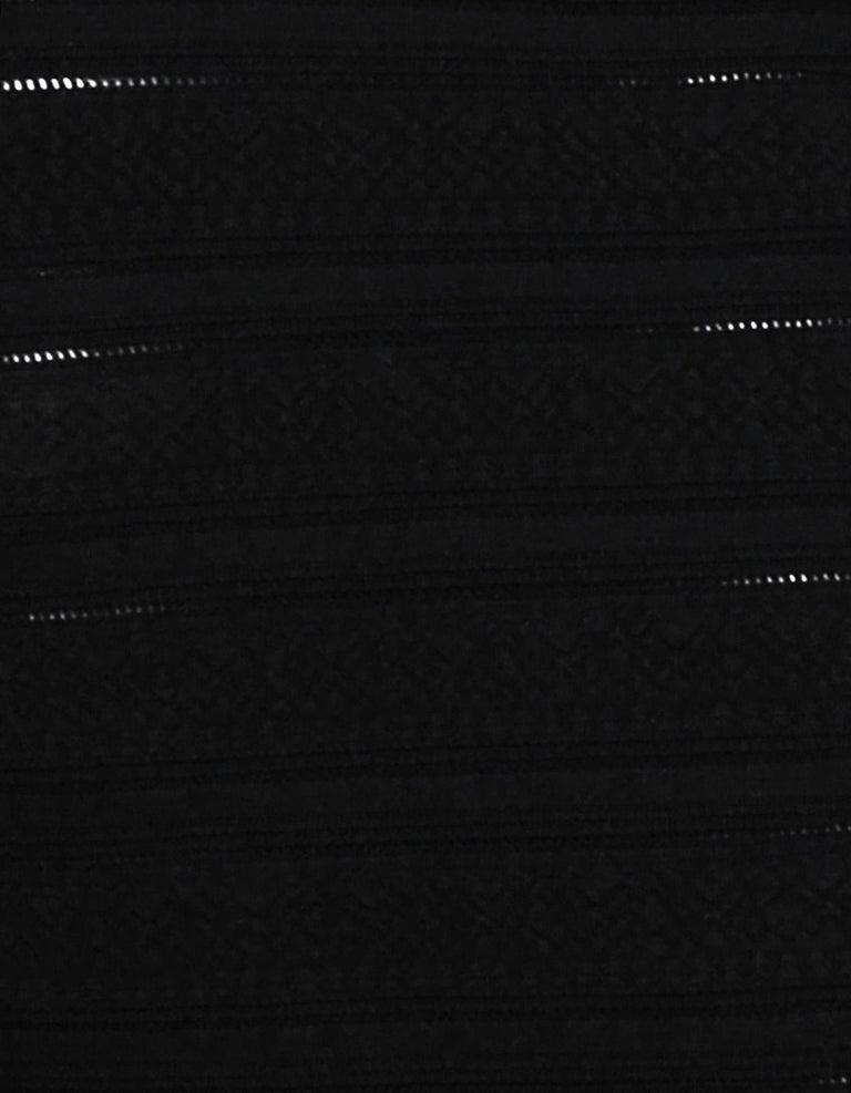 Women's Alaia Black Sleeveless V-Neck Body-Con Dress Sz 38 For Sale