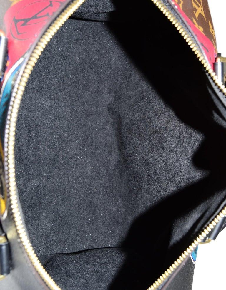 4b8142eff3d01 Louis Vuitton LV 2017 Limited Edition Monogram Kabuki Leather Speedy 30 Bag  For Sale 3